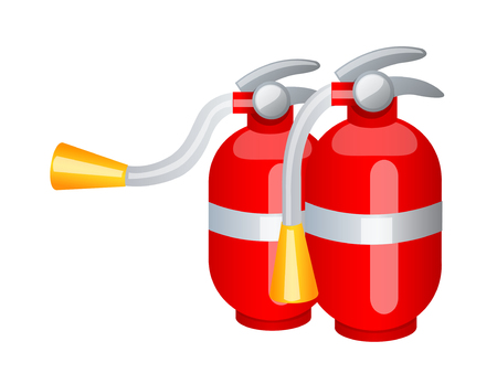 conflagration: Icon of a fire extinguisher. Illustration