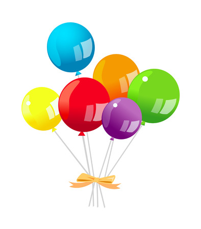 Icon of a colorful balloons. Illustration
