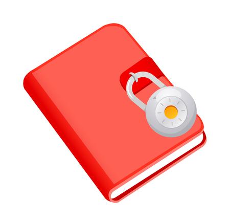 diary: vector icon diary and lock