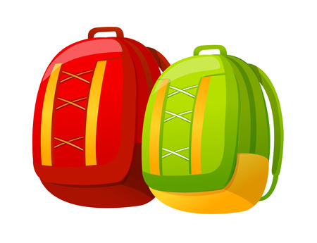 Icon of a full backpacks. Illustration