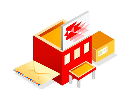post office building: vector icon post office Illustration