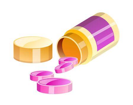pill prescription: Icon of a pill bottle.