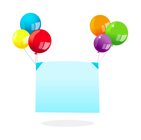 Vector icon balloons and banner Illustration