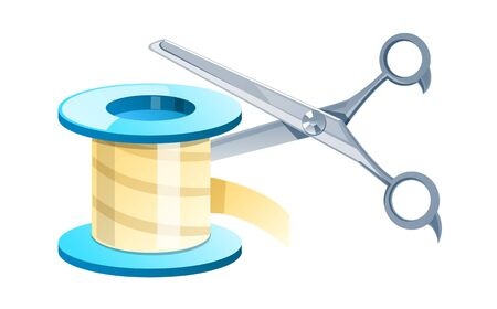 vector icon band and scissors