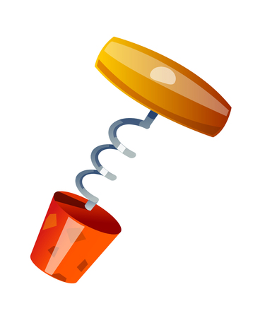 cork screw: vector icon cork screw