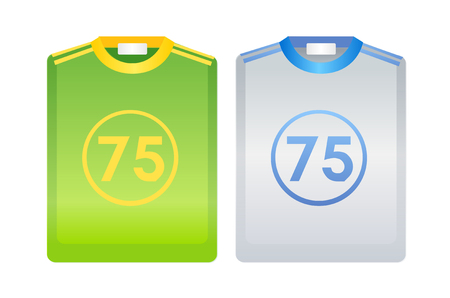 numbers clipart: vector icon sport uniform Illustration