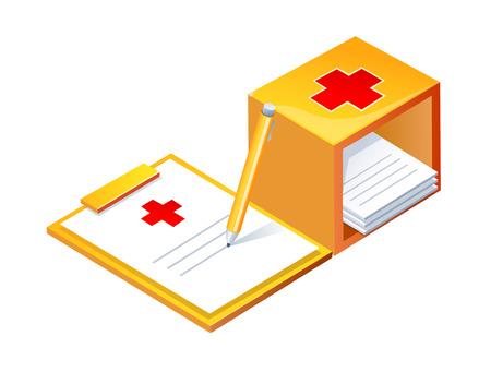 vector icon hospital chart Illustration