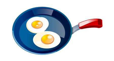 vector icon egg and frying pan