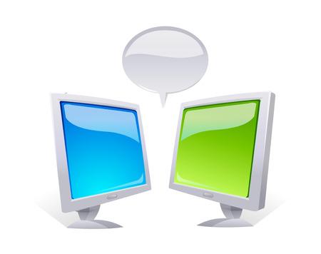 cdma: vector icon monitors