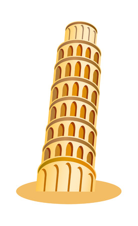 leaning tower of pisa: vector icon tower of pisa