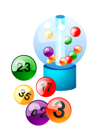 numbers clipart: vector icon lotto Illustration