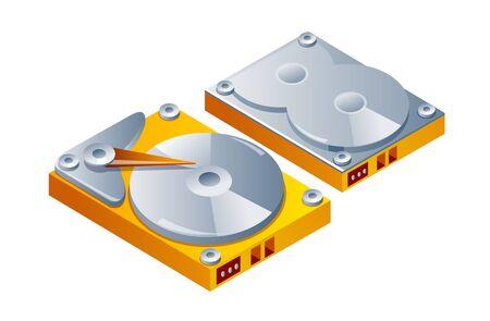 disco duro: Icono del vector disco duro