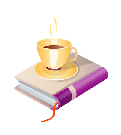 vector icon book and coffee Illustration
