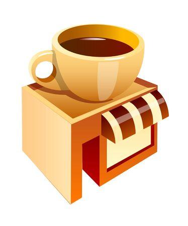 vector icon coffee shop