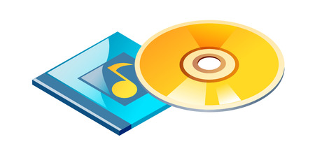 vector icon cd