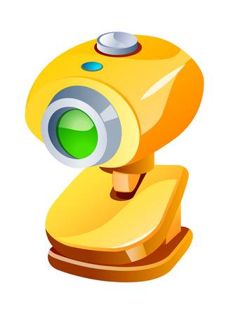 video call: vector icon telescope Illustration