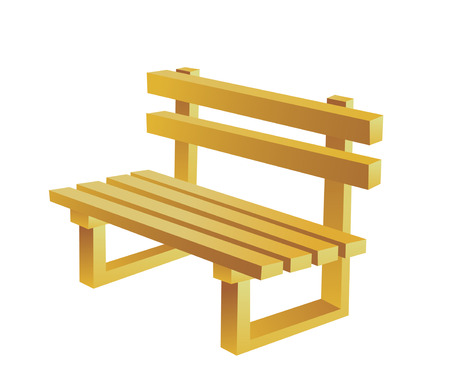 article of furniture: Icon wooden bench