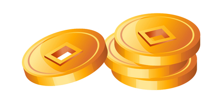 old times: Icon gold coin Illustration