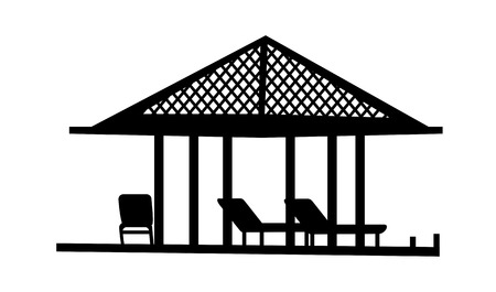 convalescence: Icon parasol and chair Illustration