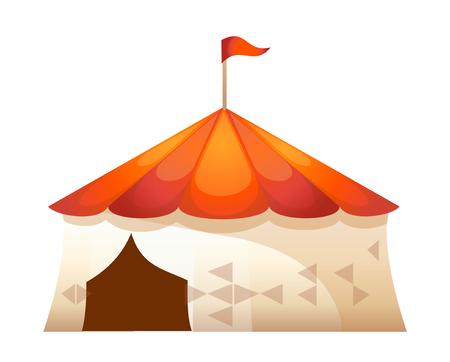 hillock: icon tent of amusement park