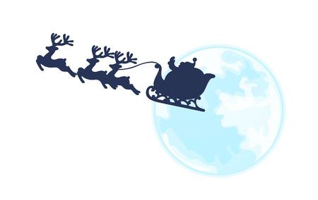 santa sleigh: icon santa claus