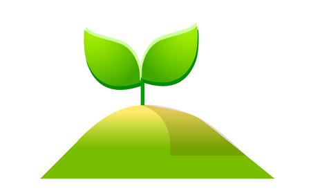 hillock: icon leaf Illustration