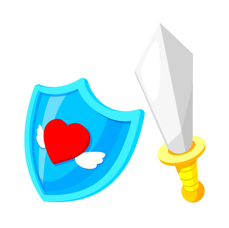 old times: icon shield and sword