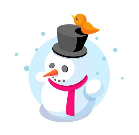 icon snowman Illustration
