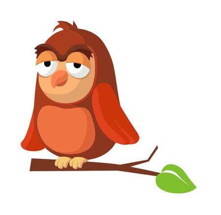 a bough: icon owl Illustration