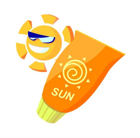 Icon suncream Illustration