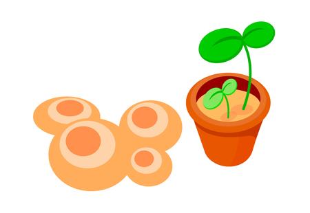 Icon plant Illustration