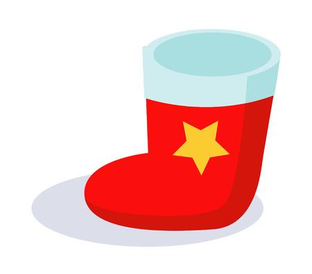 Red sock icon wth star logo