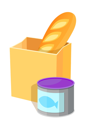 Icon of a bread and a can of sardines