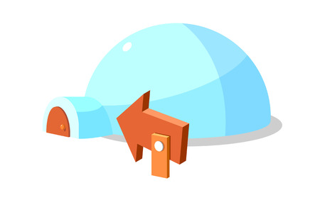 Icon of an igloo Illustration