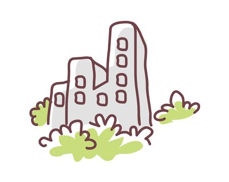 thickets: icon building Illustration