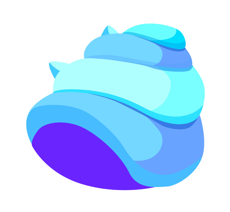 recollection: Lue conch icon. Illustration