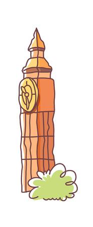 Clock tower icon. Ilustração