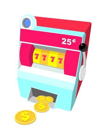 동전 슬롯 머신의 아이콘
