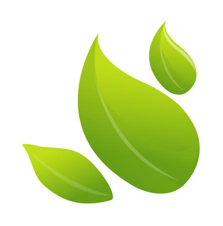 children's story: icon leaf Illustration