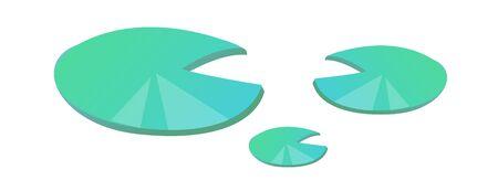 lily pad: icon lily pad Illustration