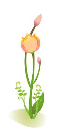 children's story: Icon plant Illustration
