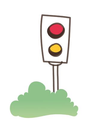 Icon traffic lamp