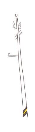 telephone pole: Icon telephone pole Illustration