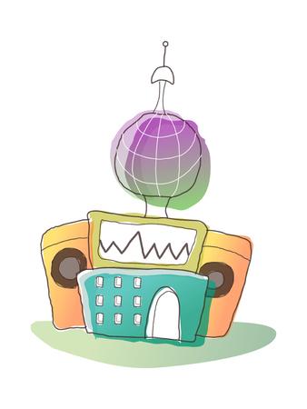 Icon radio Illustration