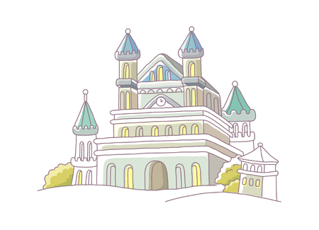 remains: icon building Illustration