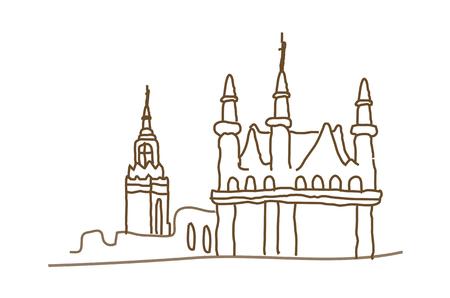 steeple: Icon castle Illustration