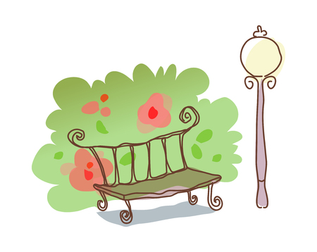 icon bench Illustration