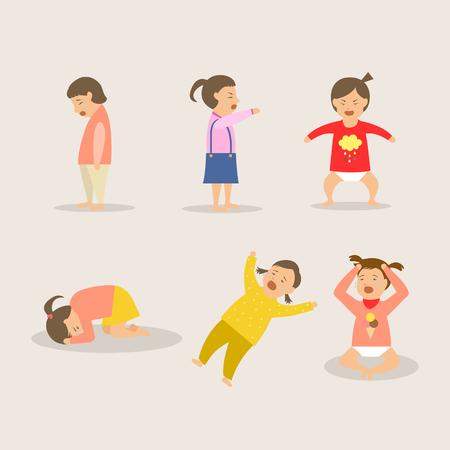 Deprimiertes Baby Mädchen Standard-Bild - 73970363
