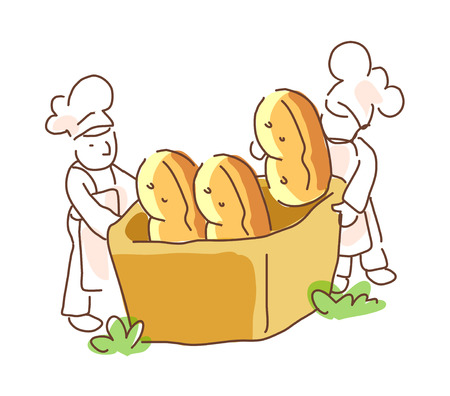 do cooking: icon bread