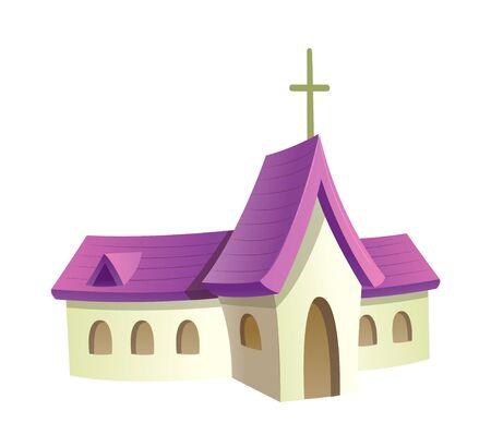 손으로 그린 아이콘 교회